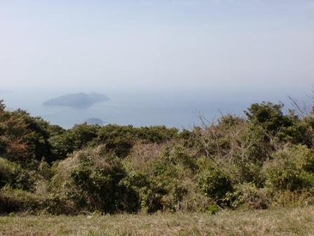 湯川山頂から望む玄界灘の画像