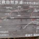 小文字山登山道入口にある登山道案内板の画像