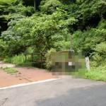 西山登山口左側の鉄橋の画像