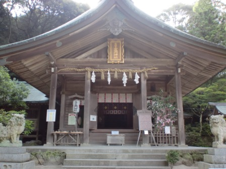 竈門神社本殿の画像