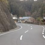 駅前ショップ中村さんの先のS字カーブの画像