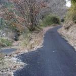 九重インターへの近道の小道の画像