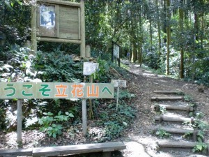 立花山登山口の画像