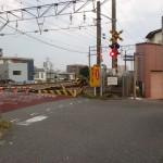 JR二日市駅北側の踏切の画像