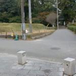 天拝山への遊歩道と武蔵寺への分岐の画像