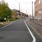 JR原田駅の駐輪場前を通り過ぎたところ
