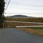 JR原田駅西側、県道17号線手前のカーブの画像