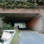 基山登山口手前の九州道の高架下の画像