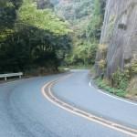 南畑ダムへの車道の画像