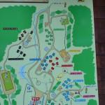いこいの森キャンプ場内にあるMAPの画像