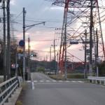 筑前山家駅から国道200号線を越える交差点の画像