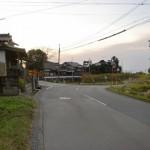 筑前山家駅から砥上神社までの車道の画像