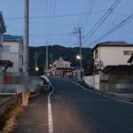 浦ノ原バス手前交差点を左折したところの画像