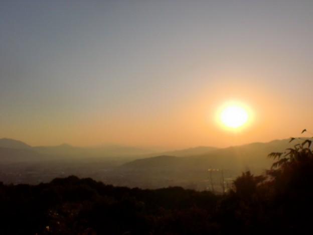 片縄山頂の朝焼けの画像