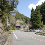 国道442号線から山口集落への分岐の画像