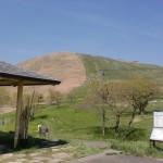 吹上峠(平尾台)駐車場から登山道の眺望の画像