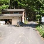 大入橋バス停のすぐ上にある九州自然歩道を示す分岐の画像