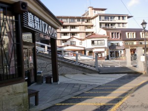 雲仙バス停(島鉄雲仙営業所前)の画像