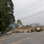 国道57号線から国道389号線への分岐の画像