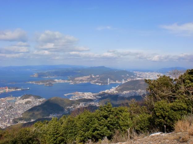 八郎岳山頂からの眺望の画像