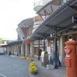 くま川鉄道あさぎり駅と隣接するポッポー館前にあるポッポー館前乗合タクシー停留所の画像