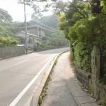太宰府天満宮裏口から県道578号線に出たところの画像