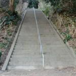 長垂寺への階段の画像