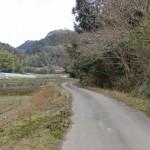 柑子岳登山口手前の農道の画像