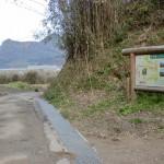 一ノ谷登山口から村上登山口への道の画像