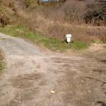 畑中の灘山ハイキングコース(左回り)入口手前の分岐の画像