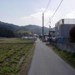 裂田溝跡そばの農道の画像