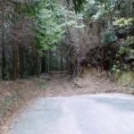 山家地区の宮地岳登山道入口の画像