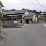 天山バス停から高木神社に至る2つ目のT字路の画像