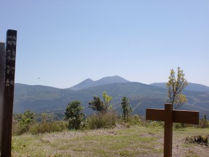 栗野岳山頂から見る霧島連山の画像