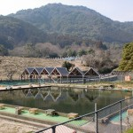 御手洗ノ滝キャンプ場入口の釣堀の画像