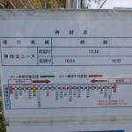 日の隈公園バス停の時刻表の画像