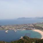 立石山展望所から芥屋海水浴場を見下ろすの画像