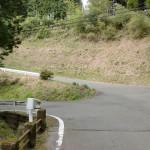 中岳登山口の手前のお宮さんの手前にある分岐の画像