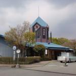 南阿蘇鉄道高森駅と高森町民バスの高森駅前バス停の画像