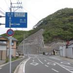 比田勝港近くの西泊方面への分岐の画像