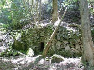 ウグイス谷1号基(犬ヶ岳ウグイス谷コースに残る炭窯跡1)の画像