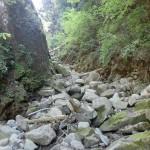 天の岩戸、西京橋への登山道の砂防ダム地点上部の谷の画像