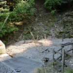 天の岩戸、西京橋への登山道の砂防ダム地点の画像