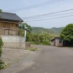 権現山山頂への林道入口(下天草)の画像