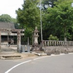 津留神社本殿前の右カーブ(天草・新合地区)の画像