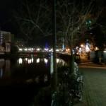 2013年2月某日早朝の那珂川沿いの歩道の画像