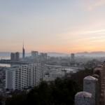 愛宕神社から見る朝焼けの画像