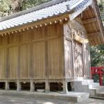 浜崎山麓の熊野神社本殿の画像