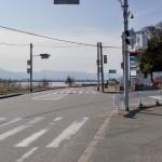今津の信号の画像