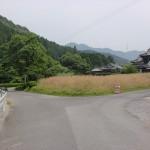 帽子岳神社一の鳥居手前にある分岐地点の画像